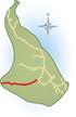 Lindhovedvej er markeret med rødt